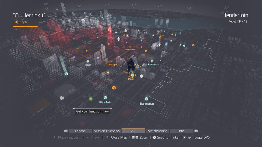 The Division - Map Overlay with Character