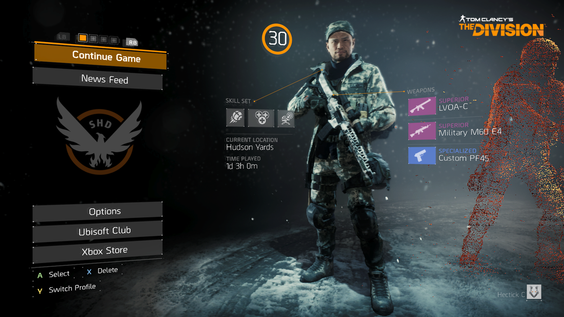 The Division - Character Selection